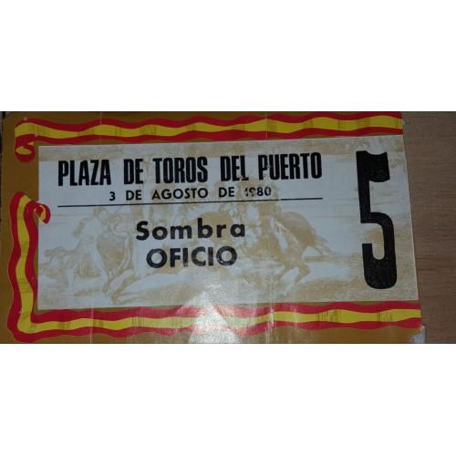 ENTRADA DE TOROS EL PUERTO DE SANTA MARIA 3 AGOSTO 1980