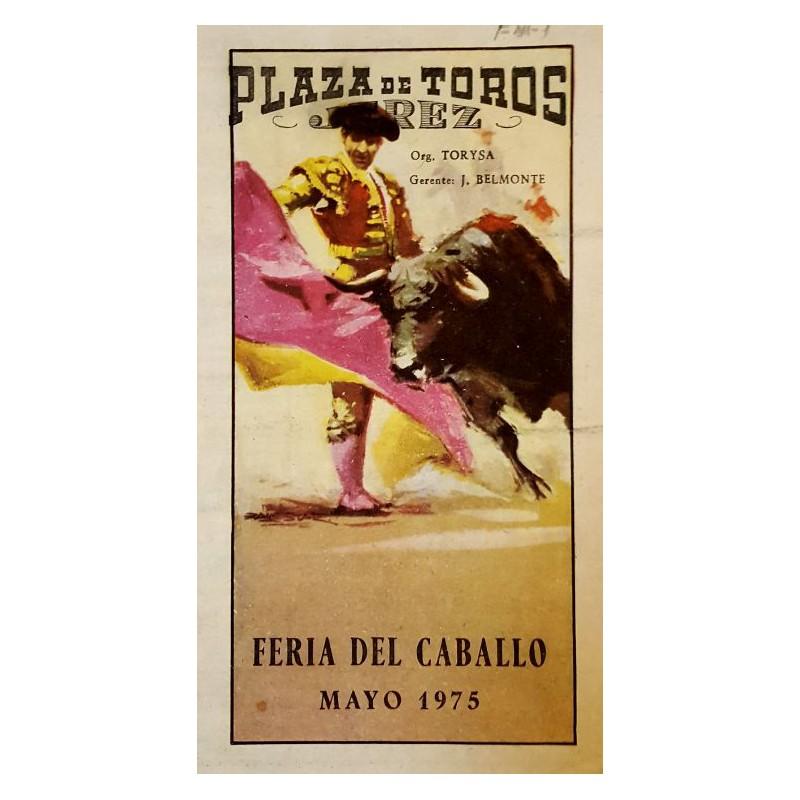 FOLLETO DE TOROS JEREZ DE LA FRONTERA 1975 MED 15X16CTM