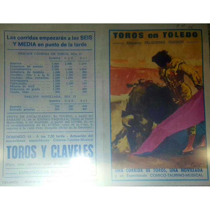 FOLLETO DE MANO PLA. TOROS DE TOLEDO 1979 MED 13X17CTM