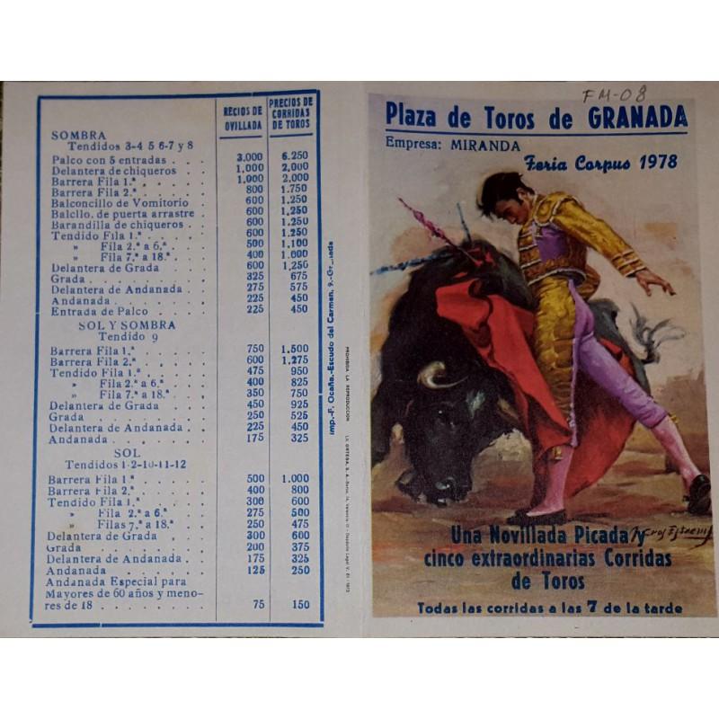 PLAZA DE T DE GRANADA 1978 MED 12X15 CTM