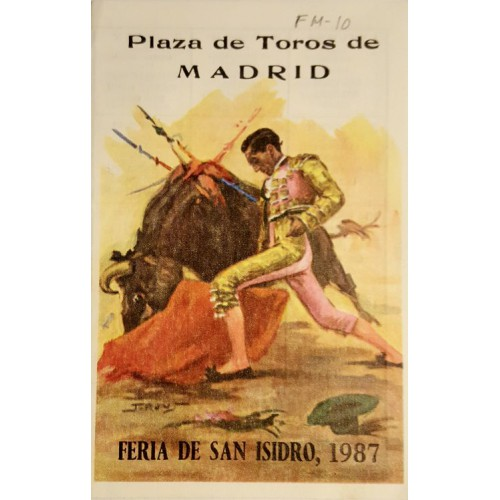 FOLLETO PLA. DE TOROS DE MADRID 1987 -MED 15X12 CTM