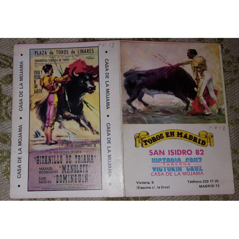 FOLLETO PLA DE TORS DE MADRID 1982 MED 12X17CTM