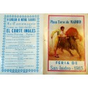 FOLLETO PLA DE TOROS MADRID 1983 MED 15X21CTM