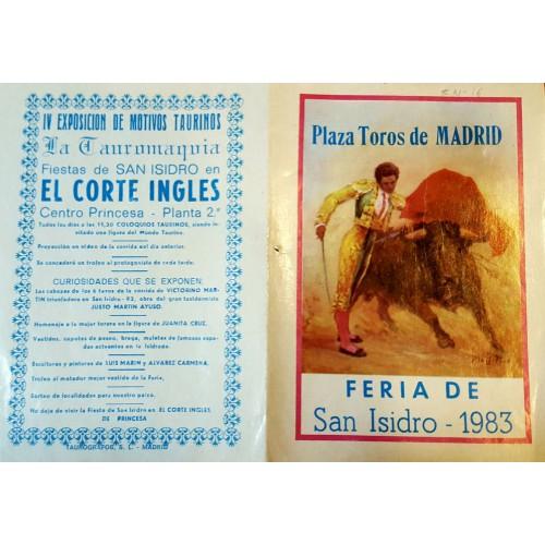 FOLLETO PLA DE TOROS MADRID 1983 MED 15X21CTM