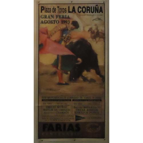 PLAZ DE TOROS DE LA CORUÑA.- 7-8-93.-MED 54X110CTM