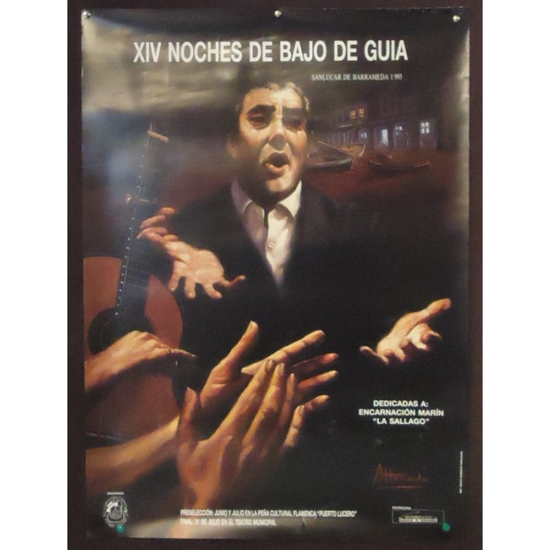 FLAMENCO.- SANLUCAR -HOMENAJE A LA SALLAGO.- 1993.- 50X70