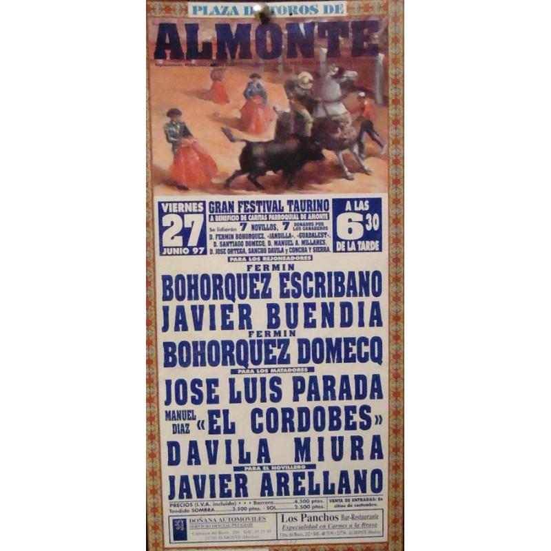 PLAZ DE TOROS DE ALMONTE.- 30-06-95.- MED 17X34 CTM