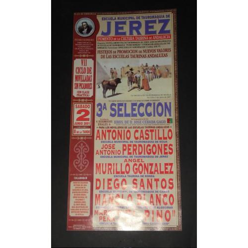 PLAZ DE TOROS DE JEREZ.-  2 JUNIO 20001.- MED 15 X 30 CTM