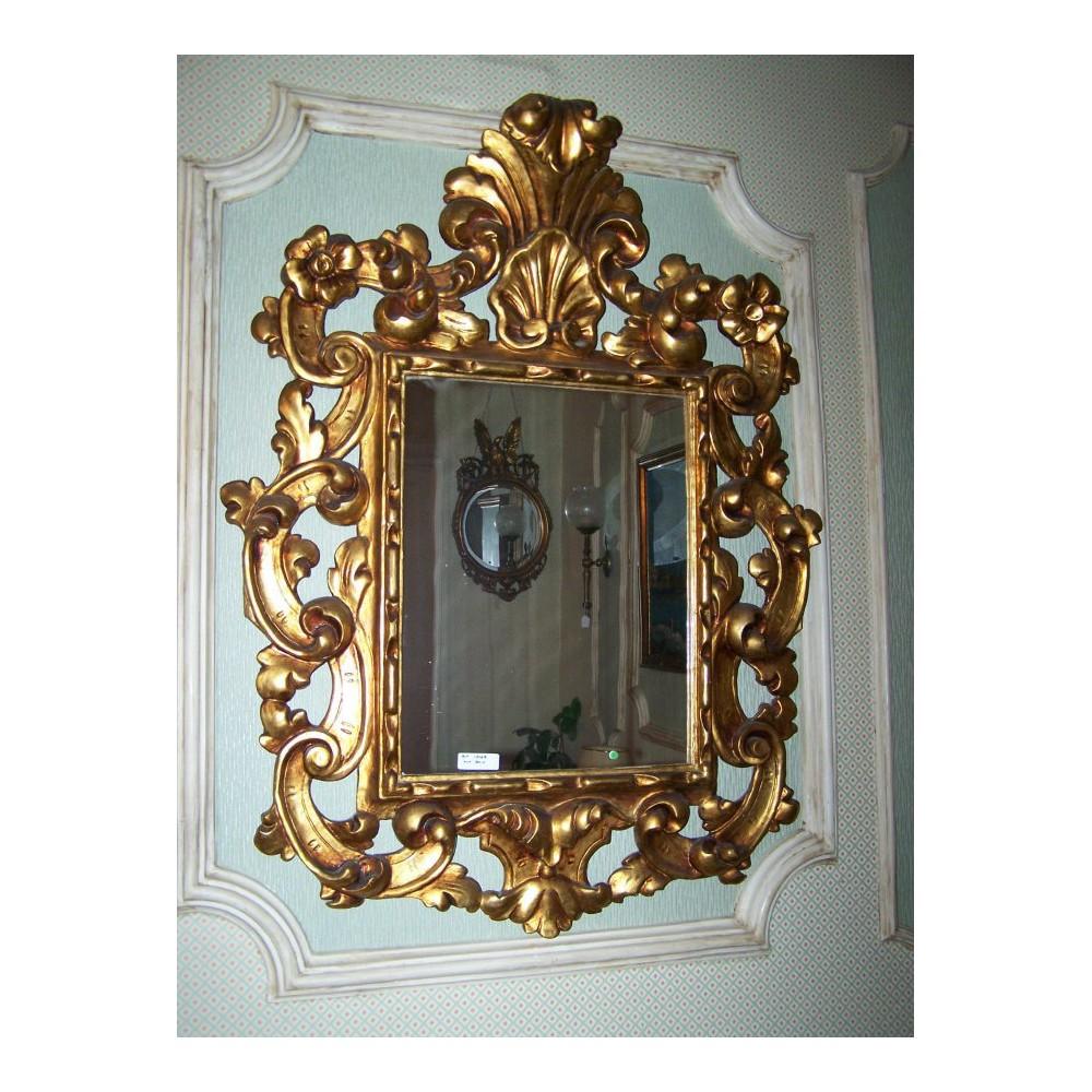 Espejo dorado antiguo gales atiguedades for Espejo dorado