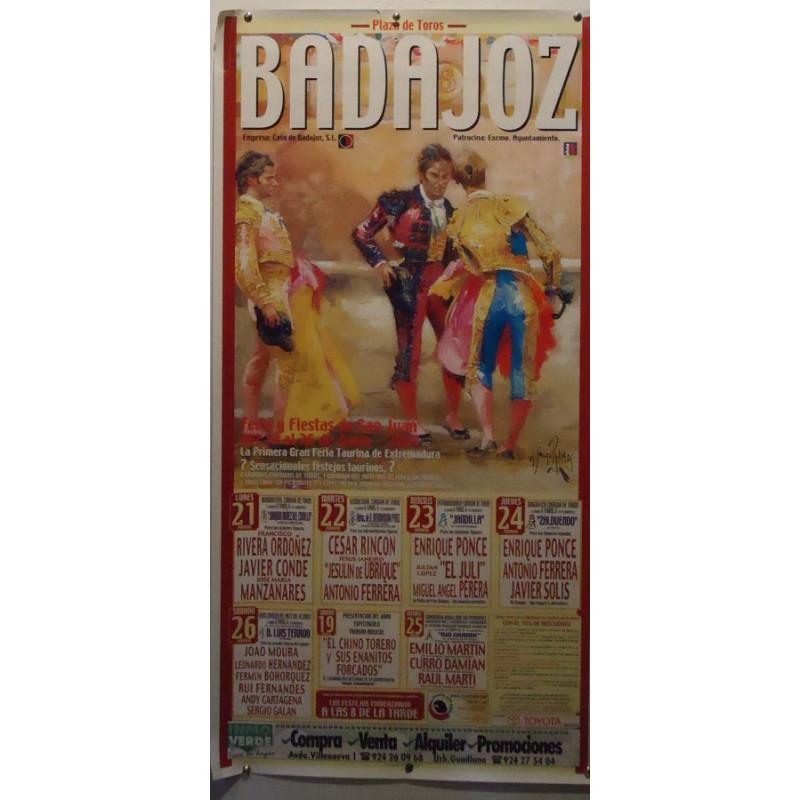PLAZ DE TOROS BADAJOZ Y TRUJILLO.-26-6-2004 MED 50X 70CTM