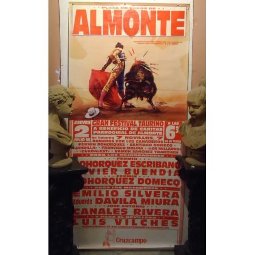 PLAZ DE TOROS DE ALMONTE-02-07-98.- MED 90X 180 CTM