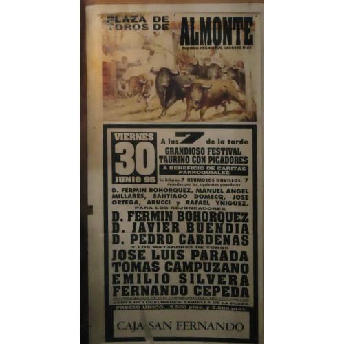 PLAZ DE TOROS DE ALMONTE.- 30-09-95.- MED 90X180CTM