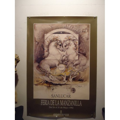 FERIA DE LA MANZANILL.- AÑO 1992.- MED 70 X 100 CTM       2 UNID