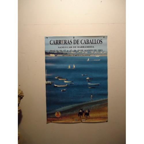 CARRERAS DE CABALLO 1993.- MED 50X 70 CTM          2 UNI