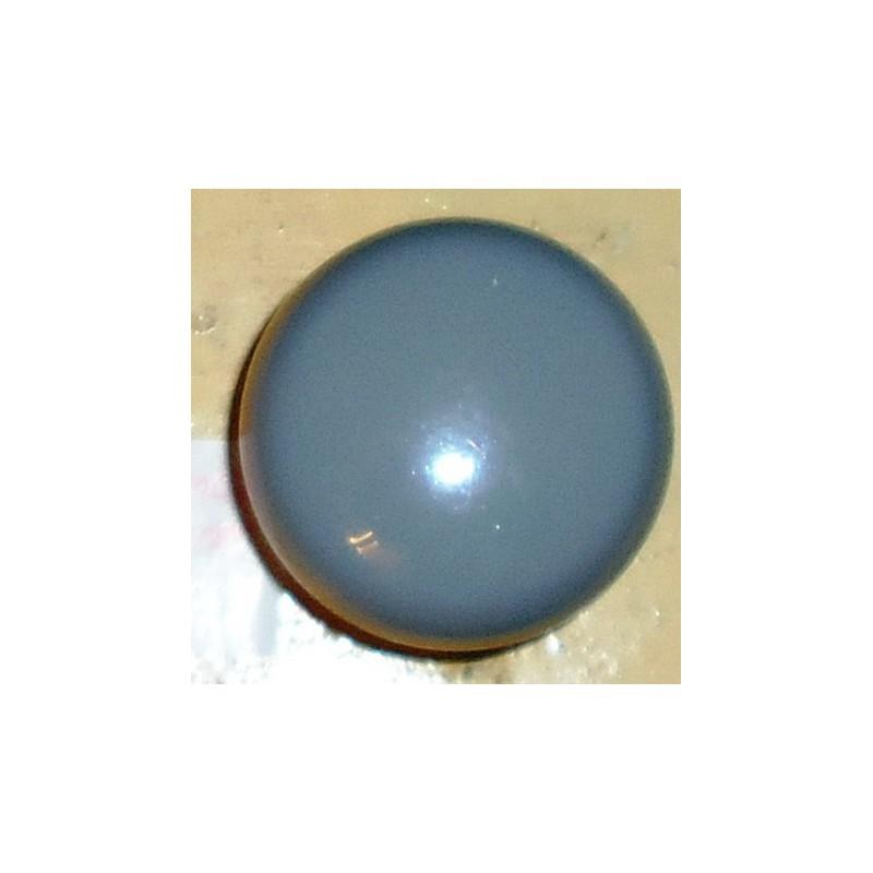 pomos de madera c/ azul   6 unid