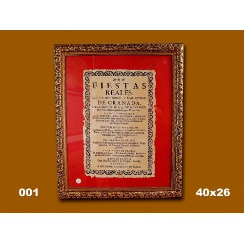PLA T REALES DE GRANADA 09-11-1776  40X26