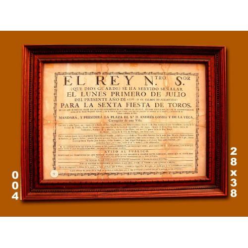 PLA T EXTR PTA  ALCALA DE FECHA  1 JULIO 1776 - CTM 28X38