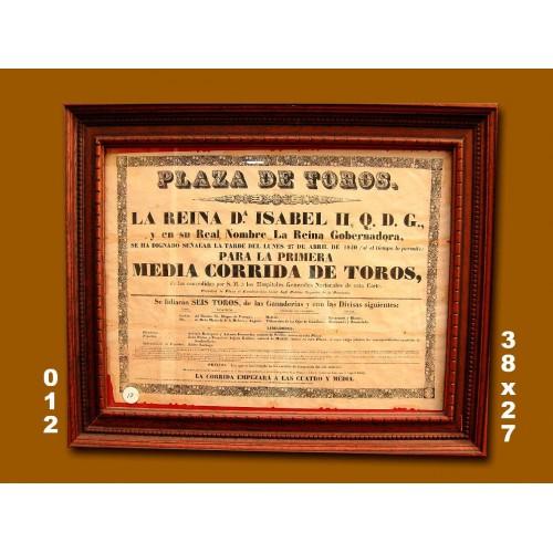 PLA T MADRID.-   27 ABRIL  1840 .- MED  38X27 CTM.-