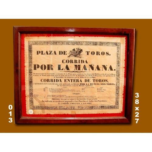 PLA T MADRID .-  21 SEP TIEMBRE.- 1840 .- MED  38X27 CTM