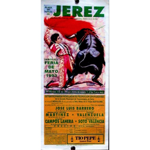 PLAZA DE TOROS DE JEREZ.- 12-05-1993.- MED 14X32CTM
