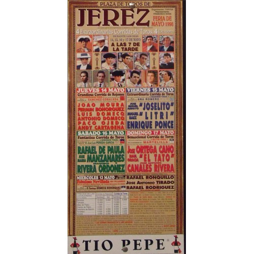 PLAZA DE TORS DE JEREZ 17 MAYO 1998 MED 20 X 45 CTM