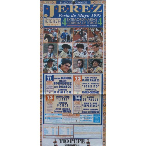 PLAZA DE TOROS DE JEREZ.- 14 MAYO 1995.- MED 20 X 50 CTM