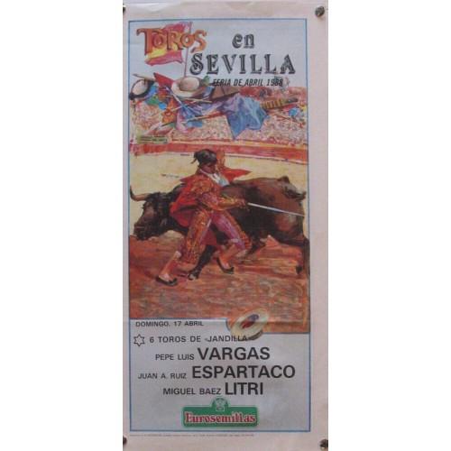 PLAZA DE TOROS DE SEVILLA 17 ABRIL 1988 MED 21X 45 CTM