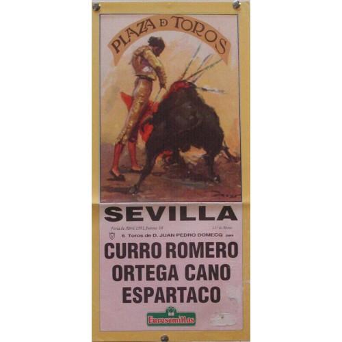 PLAZA DE TOROS DE SEVILLA ABRIL 1991 MED 21X 45 CTM