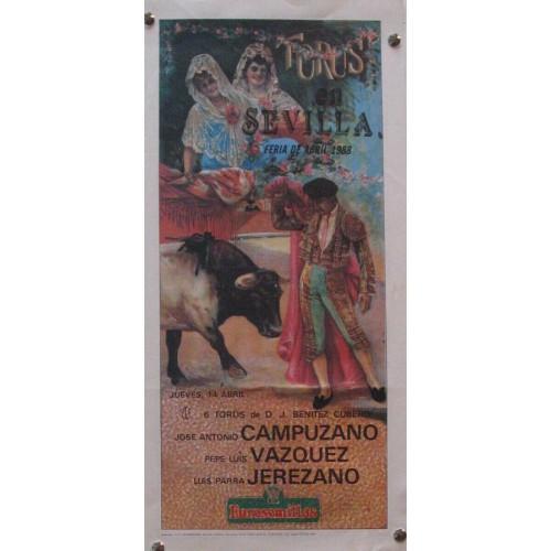PLAZA DE TOROS DE SEVILLA MED 21 X 45 CTM