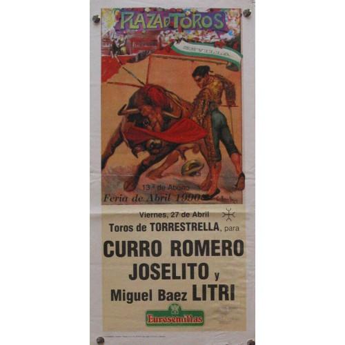 PLAZA DE TOROS DE SEVILLA  27 ABRIL 1990 MED 21 X 45 CTM