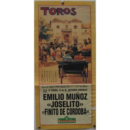 PLAZA DE TOROS DE SEVILLA 14 ABRIL 1994 MED 21X 45 CTM
