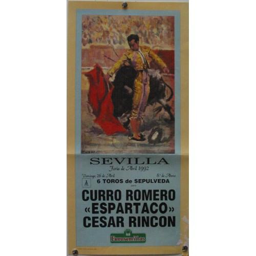 PLAZA DE TOROS DE SEVILLA 26 ABRIL 1992 MED 21 X 45 CTM